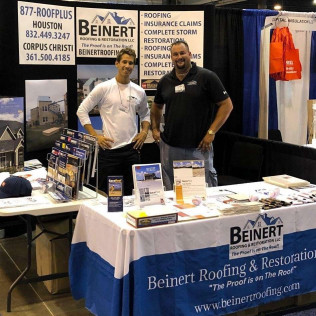 Beinert Roofing at a Roofing conference