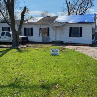 Storm Damage restoration job