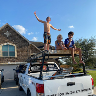 Kids in the truck